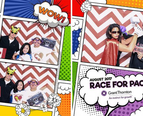 Race for Pace 2017 with Grant Thornton - photo booth for public events, non-profit, fundraising, marketing and promotionals