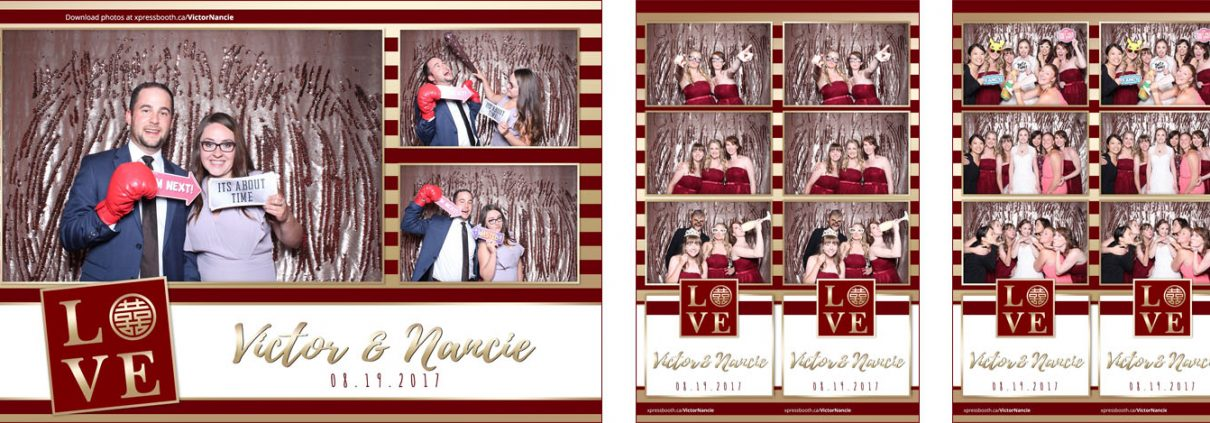 Victor & Nancie's Wedding Photo Booth at the Silver Dragon Restaurant in Calgary