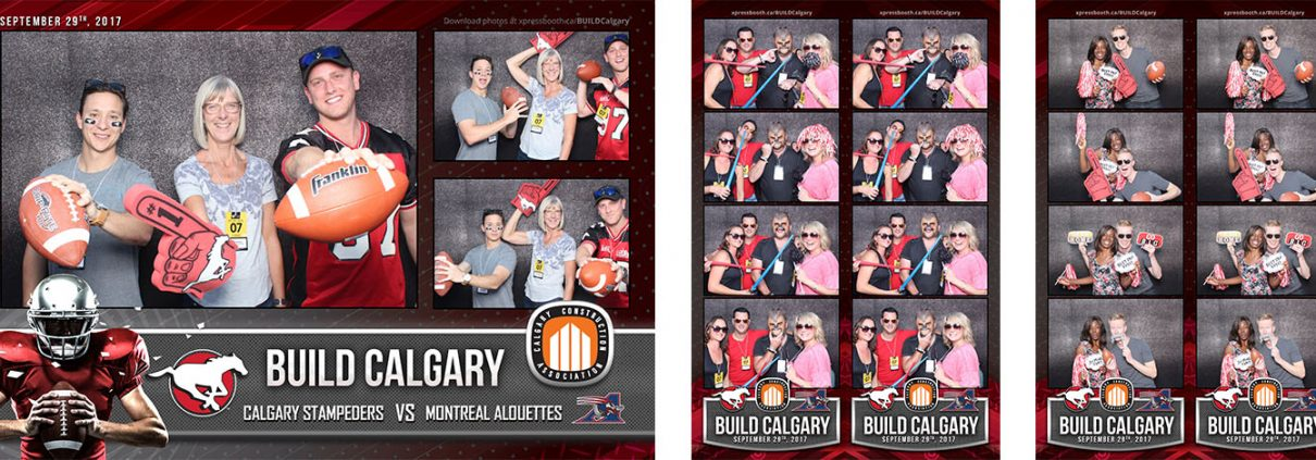 BUILD Calgary Stampeders Football Game Sports Event Photo Booth at the McMahon Stadium Calgary