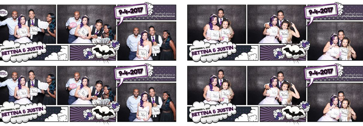 Bettina & Justin Canmore Wedding Photo Booth at Silvertip Golf Course