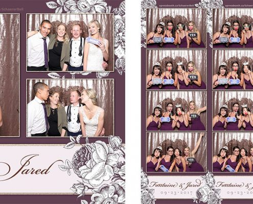 Fontaine & Jared's Wedding Photo Booth at the Delta by Marriott Calgary Downtown