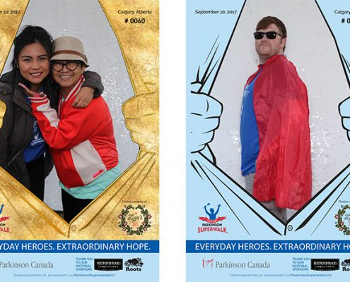 Parkinson Superwalk Calgary Charity Outdoor Photo booth for public events