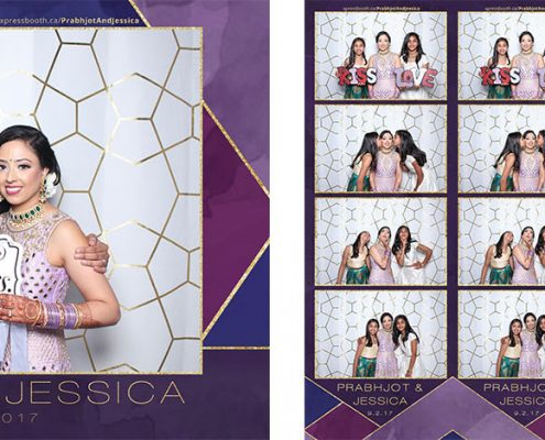 Prabhjot and Jessica's Wedding Photo Booth at the Magnolia Banquet Hall