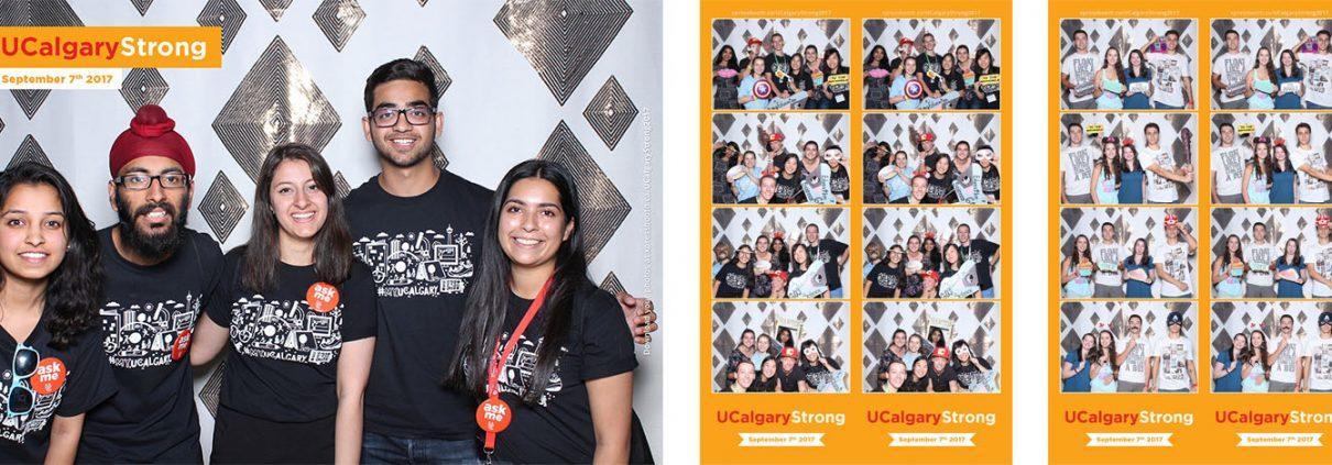 UCalgary Strong 2017 at MacEwan Hall, University of Calgary Photo Booth