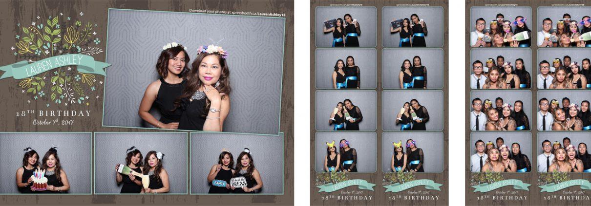 Lauren Ashley 18th Birthday Photo Booth at Fairmont Palliser Calgary
