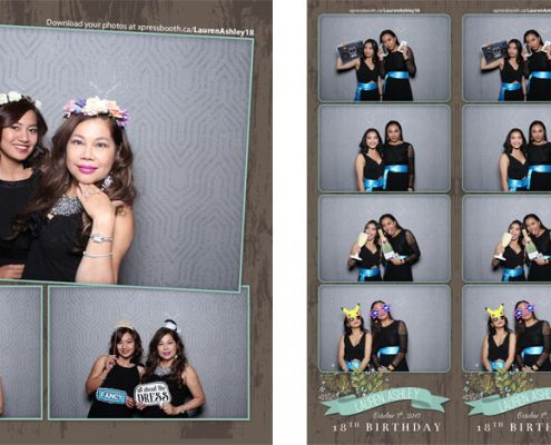 Lauren Ashley 18th Birthday Photo Booth at Fairmont Palliser Calgary