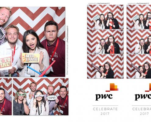 PWC Celebrate Corporate Party Photo Booth at the Workshop Kitchen Bar in Calgary