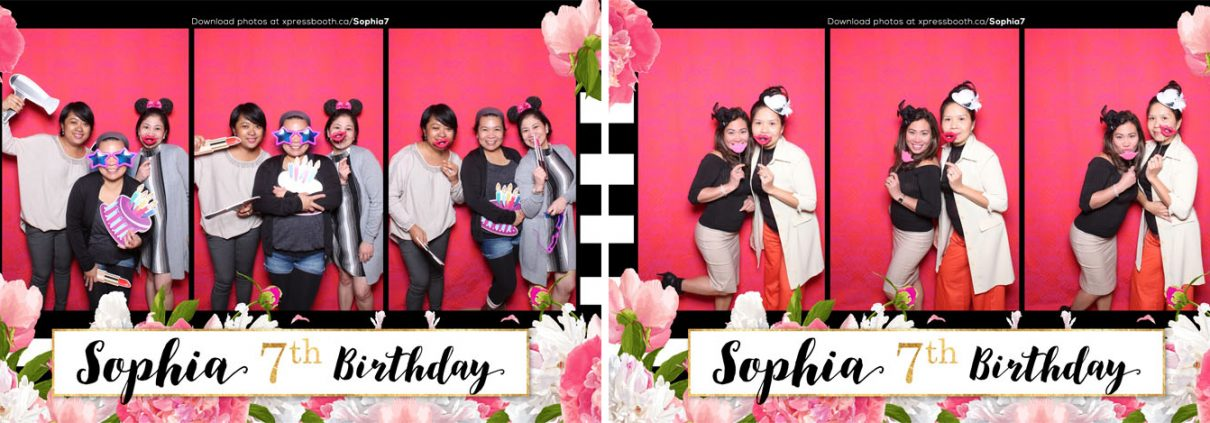 Sophia 7th Birthday Photo Booth Calgary