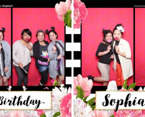 Sophia 7th Birthday Photo Booth Calgary