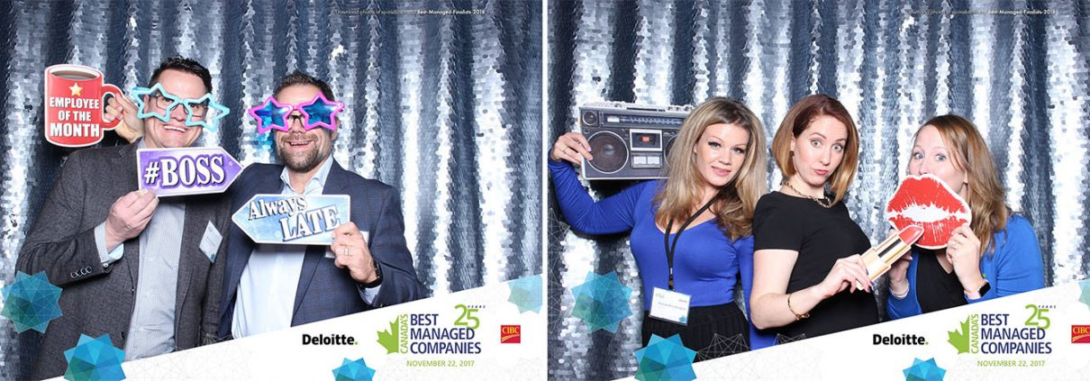 Deloitte Canada's Best Managed Companies Photo Booth for Corporate Events at Studio Bell
