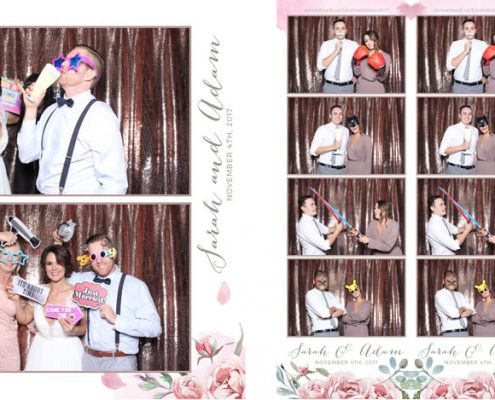 Sarah & Adam's Wedding Photo Booth at the Creekside Villa in Canmore, Alberta