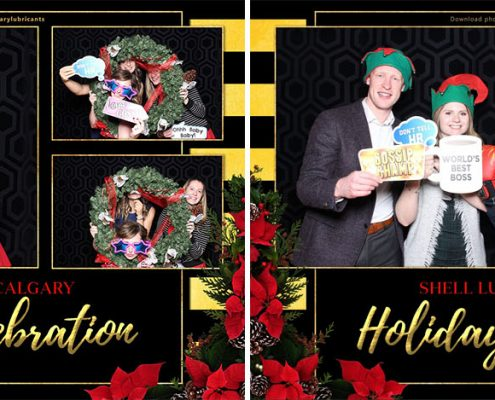 Shell Lubricants Christmas Party Photo Booth at Charbar Calgary