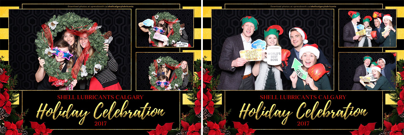 Shell Lubricants Christmas Party Xpressbooth Photo Booth Calgary