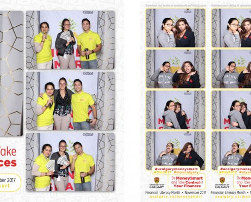 University of Calgary Money Smart Photo Booth for School Events