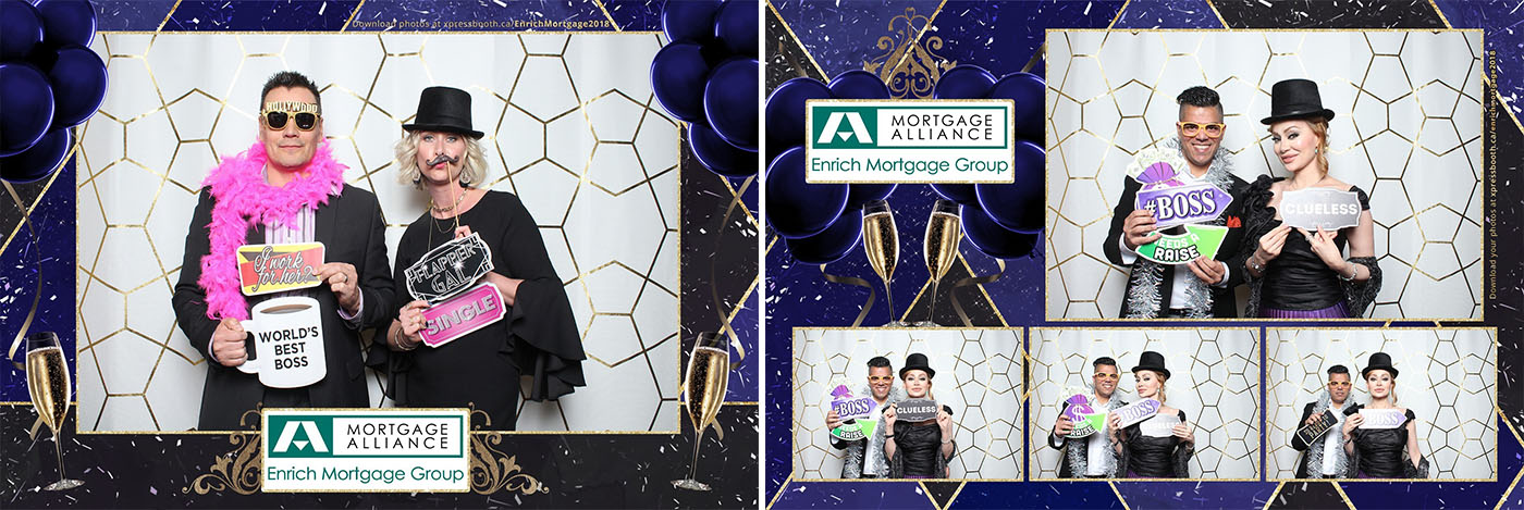 Enrich Mortgage Corporate Party Photo Booth at the Deerfoot Inn & Casino Calgary