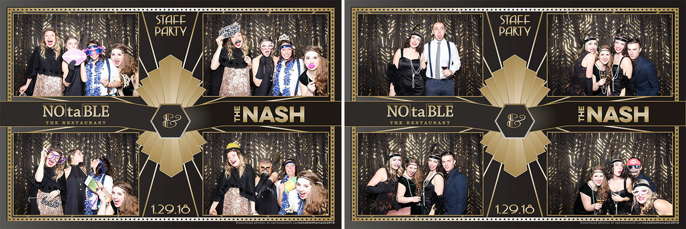 NOtaBLE and The Nash Calgary Restaurants Holiday Party Photo Booth