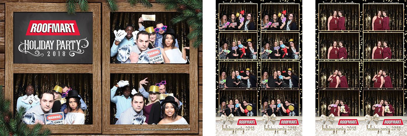 Holiday Party Photo Booth at the Wild Rose Brewery in Calgary