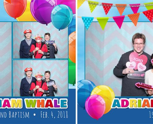 Adrian & Liam First Birthday & Baptism Party Photo Booth at the Carriage House Inn in Calgary