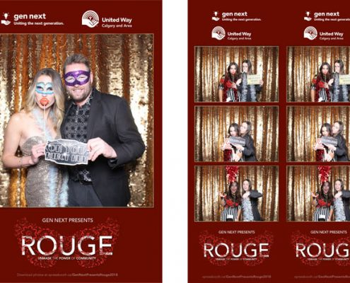 Gen Next United Way Rouge Fundraising Gala Photo Booth