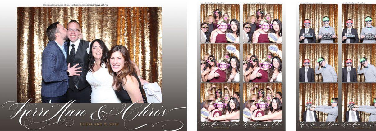 Kerri Ann Chris Wedding Photo Booth at the Lake House Calgary
