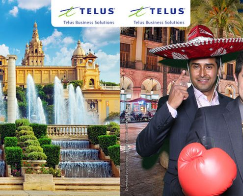 Telus Business Solutions Barcelona Spain Virtual Travel Green Screen Photo Booth