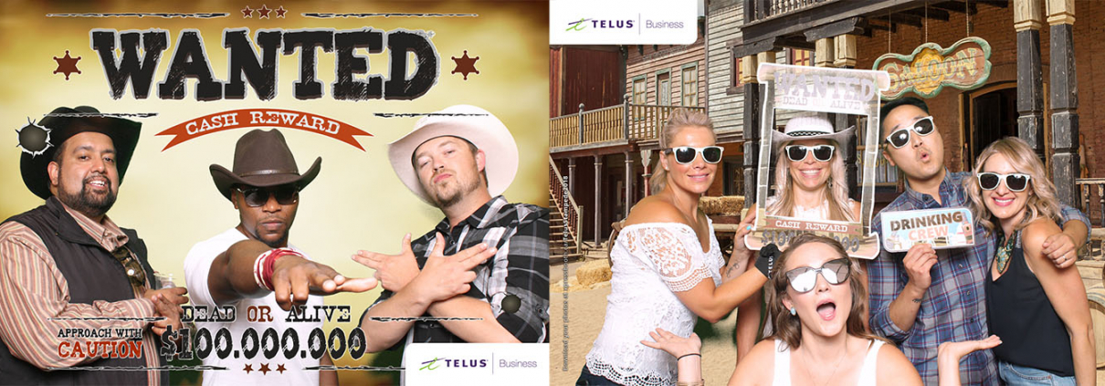 Telus Business Solutions Stampede Party Green Screen Western Photo Booth