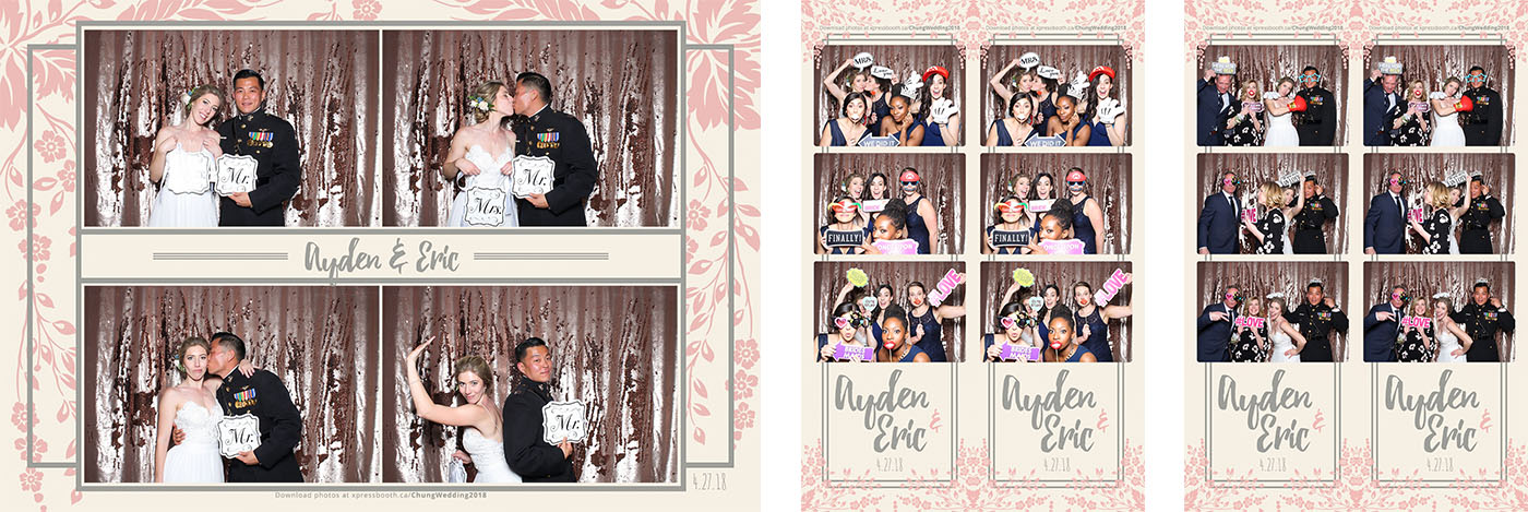 Ayden and Eric's Canmore Wedding Photo Booth