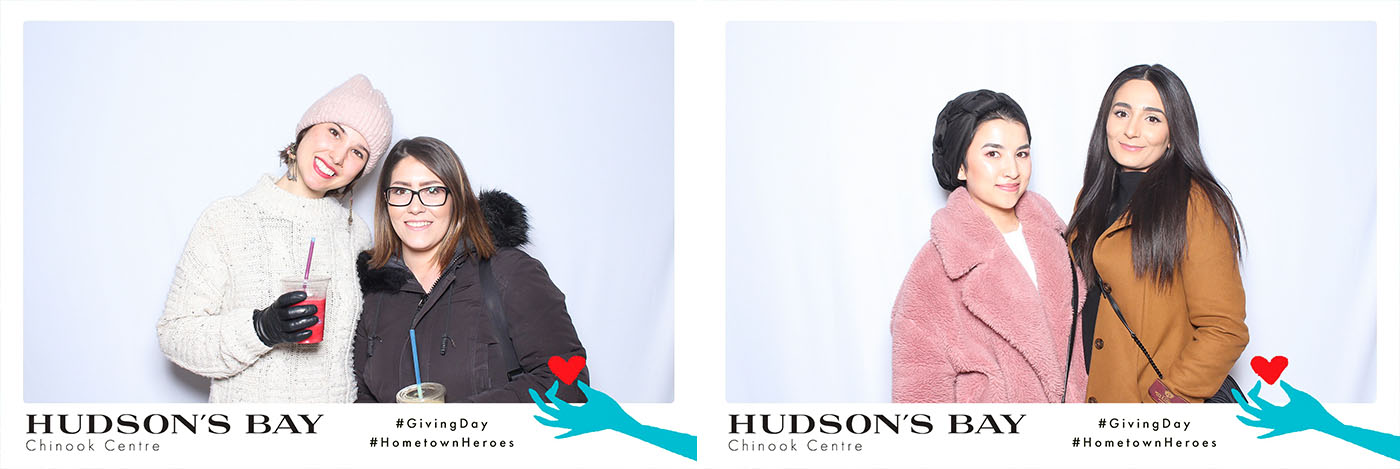 Hudsons Bay Chinook Centre Giving Day Photo Booth