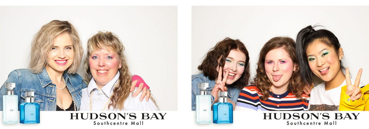 Hudsons Bay Southcentre Calvin Klein Photo Booth