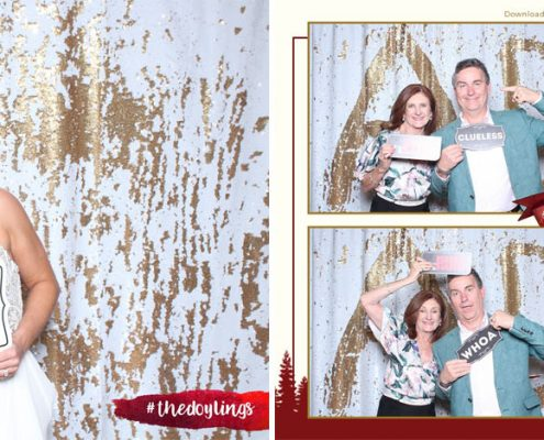Alicia and Dermot Canmore Wedding Photo Booth