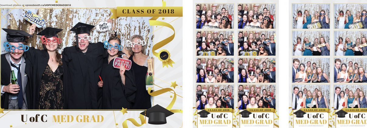 Graduation Photo Booth for the University of Calgary Med School