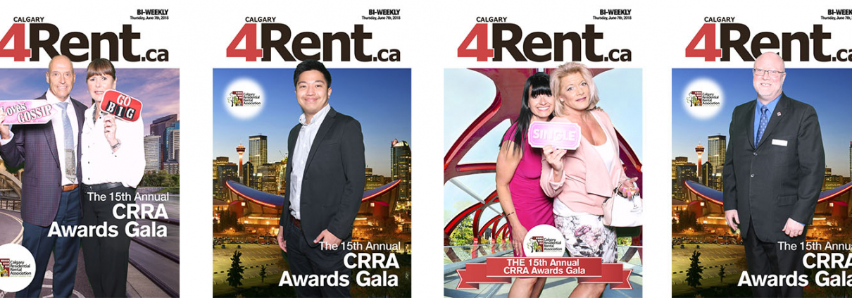 4Rent Magazine Green Screen Photo Booth at the Calgary Residential Rental Association Gala