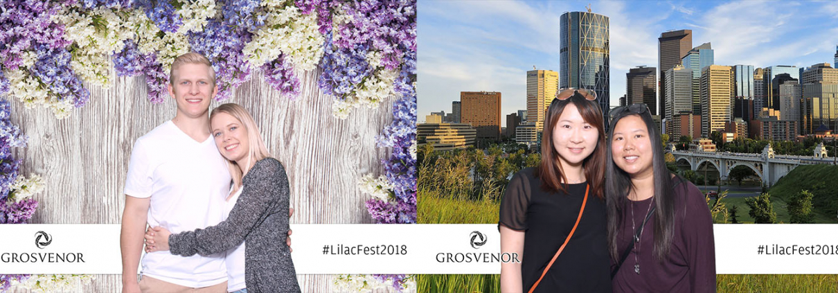 Grosvenor Lilac Festival Public Outdoor Event Green Screen Photo Booth