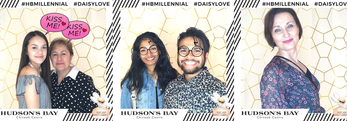 Hudsons Bay Chinook Millennial Event Daisy Love by Marc Jacobs Animated GIF Boomerang Photo Booth