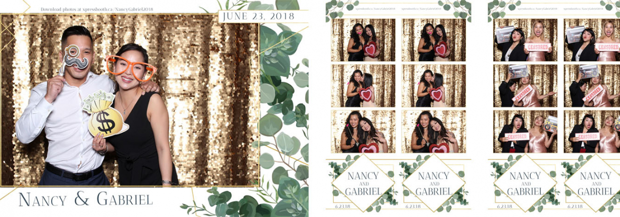 Nancy and Gabriel Wedding Photo Booth at the Fairmont Palliser Calgary