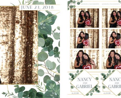 Nancy and Gabriel Wedding Photo Booth at the Fairmont Palliser Calgary
