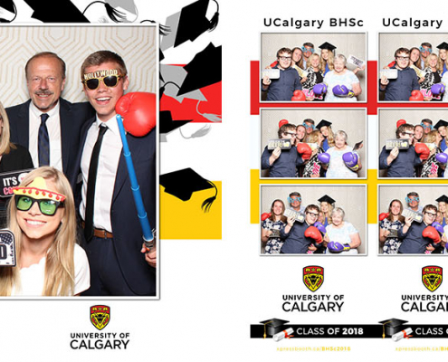 University of Calgary Health Sciences Graduation Party Photo Booth