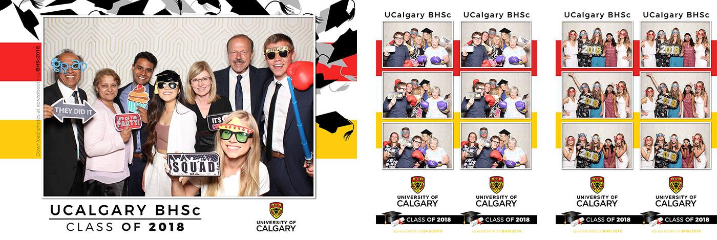 University of Calgary Health Sciences Graduation Party Photo Booth
