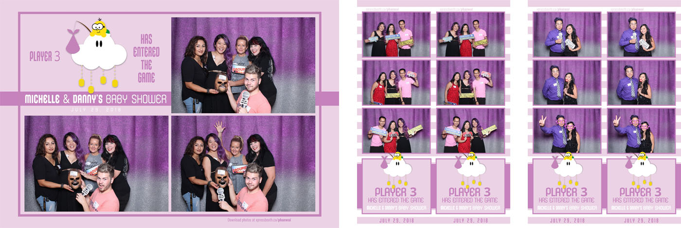 Danny and Michelle Baby Shower Photo Booth at the Auburn Bay Residents Association
