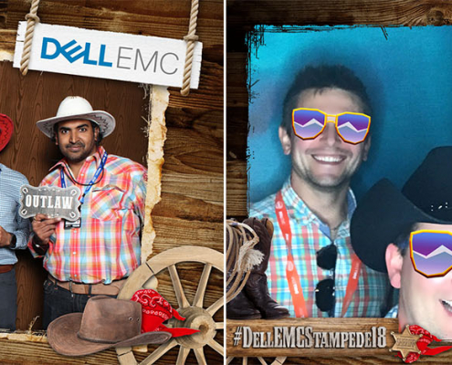 Dell EMC Stampede Party Photo Booth and Animated GIF Booth at the Cowboys Dance Hall in Calgary