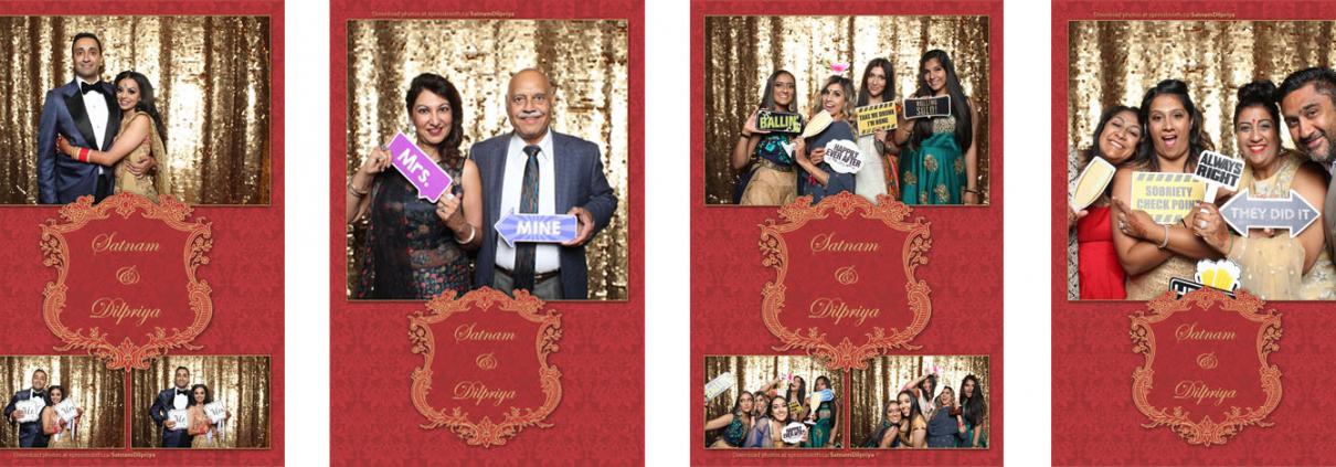 Satnam Dilpriya Wedding Photo Booth at the BMO Centre