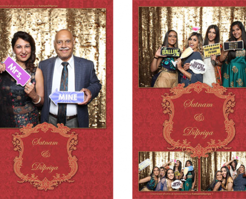 Satnam Dilpriya Wedding Photo Booth at the BMO Centre