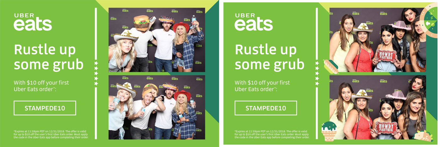 UBER Eats Calgary Stampede Tent Photo Booth for Marketing and Promotionals