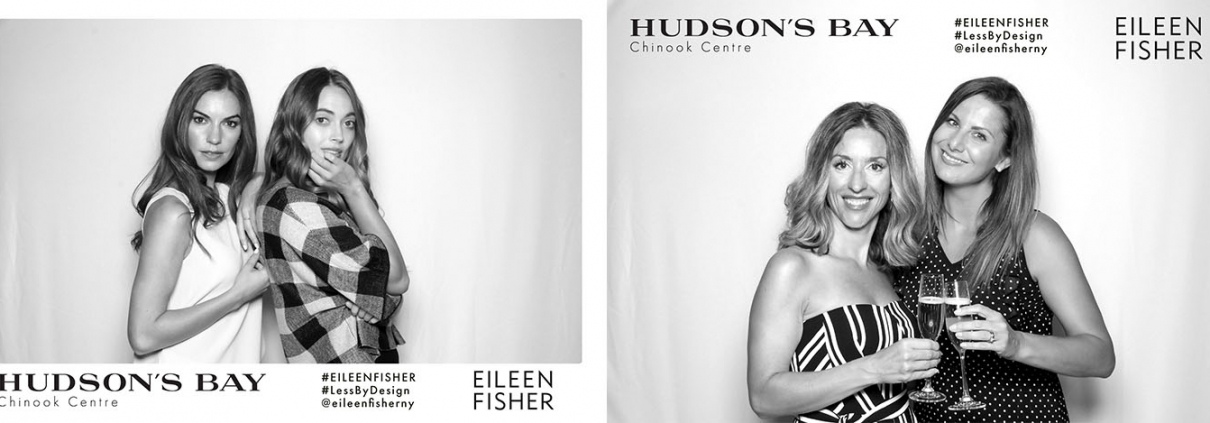 Hudsons Bay Chinook Eileen Fisher Special Event Photo Booth for Marketing and Promotionals