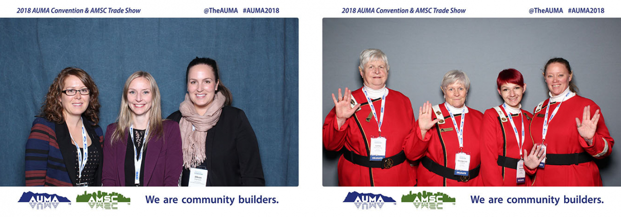 2018 AUMA Convention and AMSC Trade Show Double Photo Booth at the Westerner Park in Red Deer Alberta