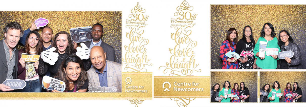 Centre for Newcomers 30th Anniversary Photo Booth at the Metropolitan Conference Centre