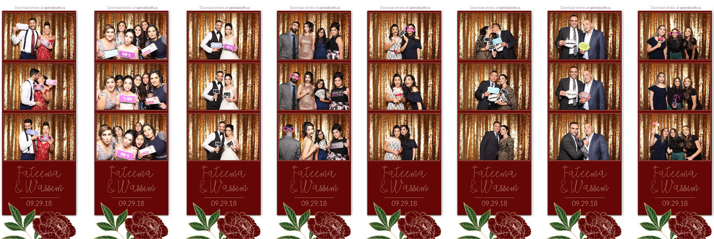 Fateema and Wassim Wedding Photo Booth at the Empire Banquet Hall