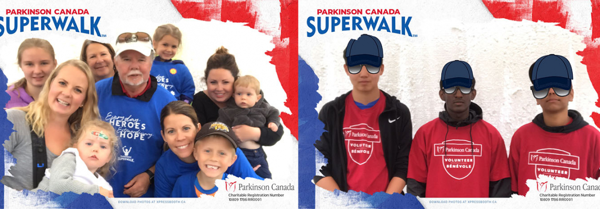 Parkinson Superwalk 2018 Animated GIF Booth at the Confederation Park in Calgary