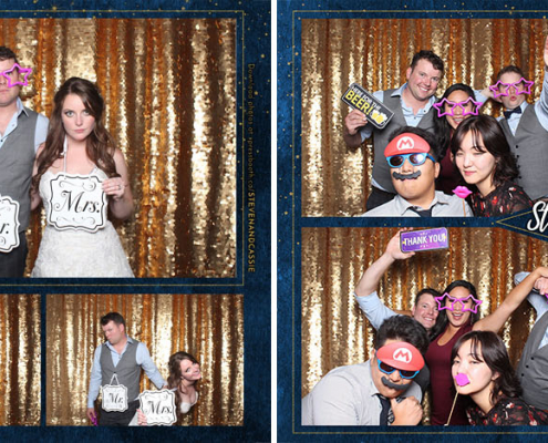 Steven and Cassie Wedding Photo Booth at Civic on Third