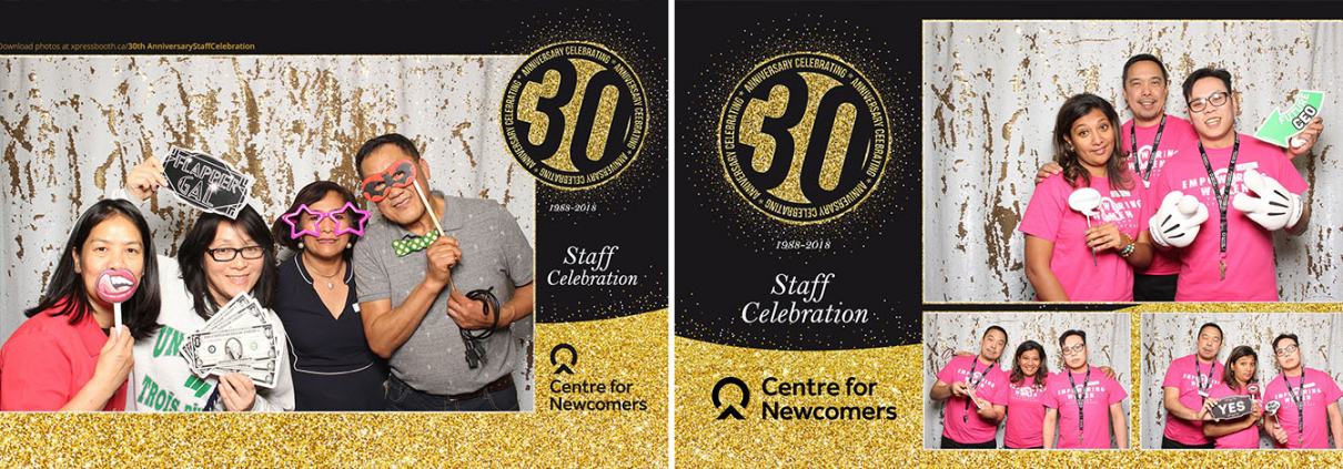 Centre for Newcomers 30th Anniversary Party Photo Booth